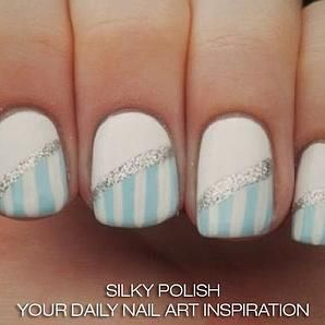 Really cute nail art from a fan ☺ please like and follow for daily beautiful nails!