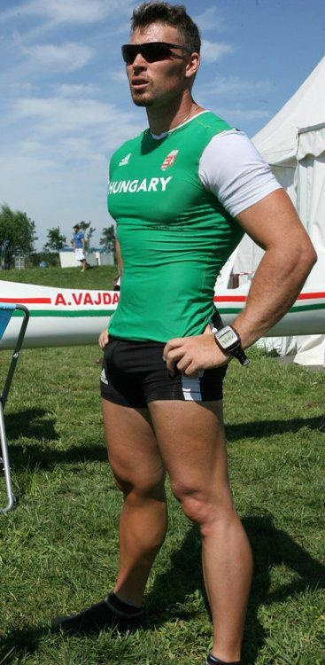 Attila Vajda - Hungarian sprint canoer Competing in three Summer Olympics (04, 08, 12) he has won two medals in the C-1 1000 m event with a gold in 2008 and a bronze in 2004