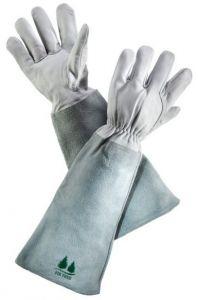 Leather Gardening Gloves by Fir Tree. Premium Goatskin Gloves With Cowhide Suede Gauntlet Sleeves. Perfect Rose Garden Gloves