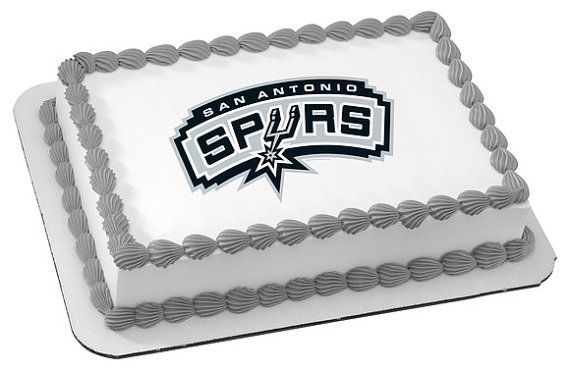 NBA+San+Antonio+Spurs+Edible+Image+Cake+Topper+by+ABirthdayPlace,+$8.99