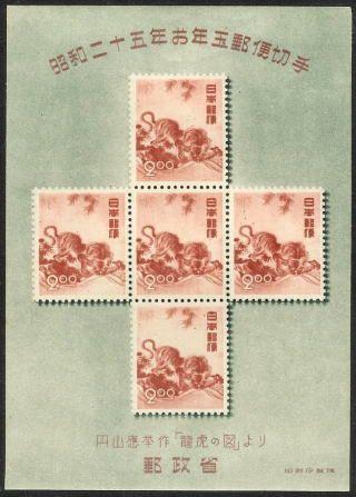 わが国最初のお年玉郵便切手シート