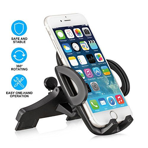 CD Phone Mount, BOOCOSA CD Slot Holder for Car, Universal Cell Phone Stand Cradle, Suit for iPhone X/8P/8/7P/7/6S/6P/6,for Samsung Galaxy Google, LG, Huawei & GPS Device, One-Touch Release. For product info go to:  https://www.caraccessoriesonlinemarket.com/cd-phone-mount-boocosa-cd-slot-holder-for-car-universal-cell-phone-stand-cradle-suit-for-iphone-x-8p-8-7p-7-6s-6p-6for-samsung-galaxy-google-lg-huawei-gps-device-one-touch-release/