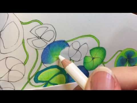 Blending Prismacolor Premier with white - YouTube