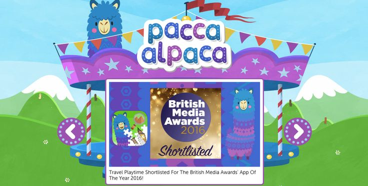 Would you like to see our shiny new The British Media Awards Shortlisted badge for App Of The Year? (Before Pacca Alpaca tries to nibble it)... http://bit.ly/PaccaAlpacaTravelPlaytimeApp