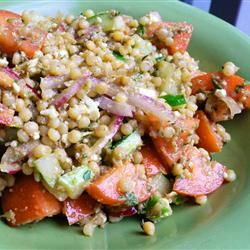 Heirloom Tomato Salad with Pearl Couscous Allrecipes.com