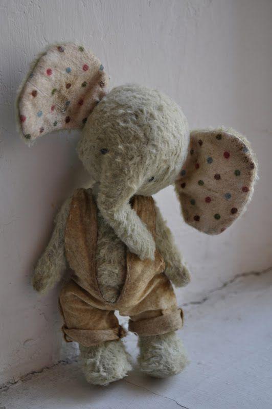 Handmade Elephant doll/plush toy by Diana Yunusov