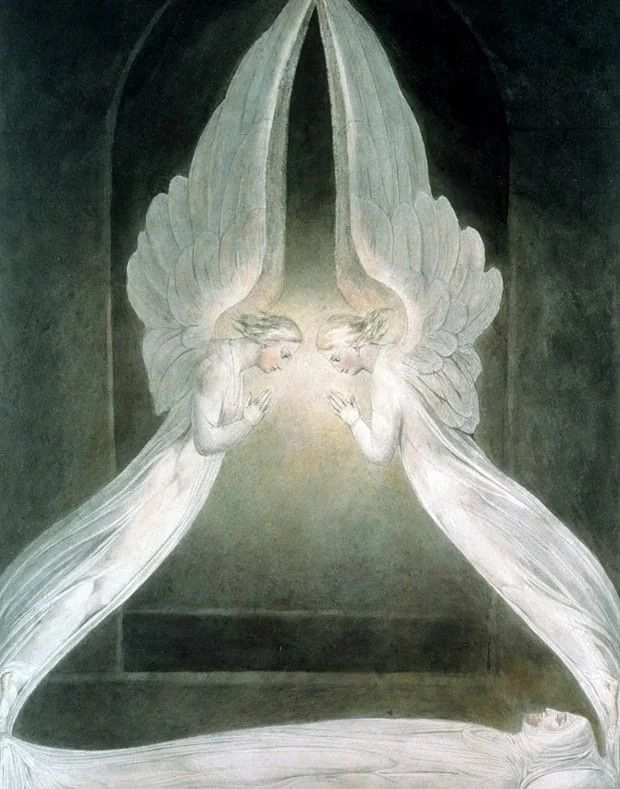 One of Sir William blake's pieces - romanticism and religious overtures. But even I a spirtiualist can appreciate the elegance of all his works and poems and a few books I believe.