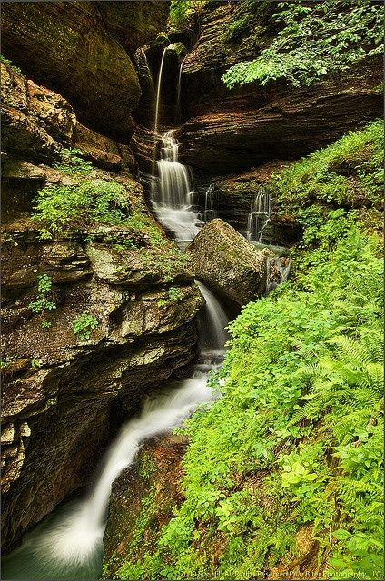 Indian Creek Canyon Falls, Fayetteville, Arkansas.  A hidden treasure just off the Buffalo National River, Indian Creeks mossy waterfalls and karst canyon are best explored after heavy rains.