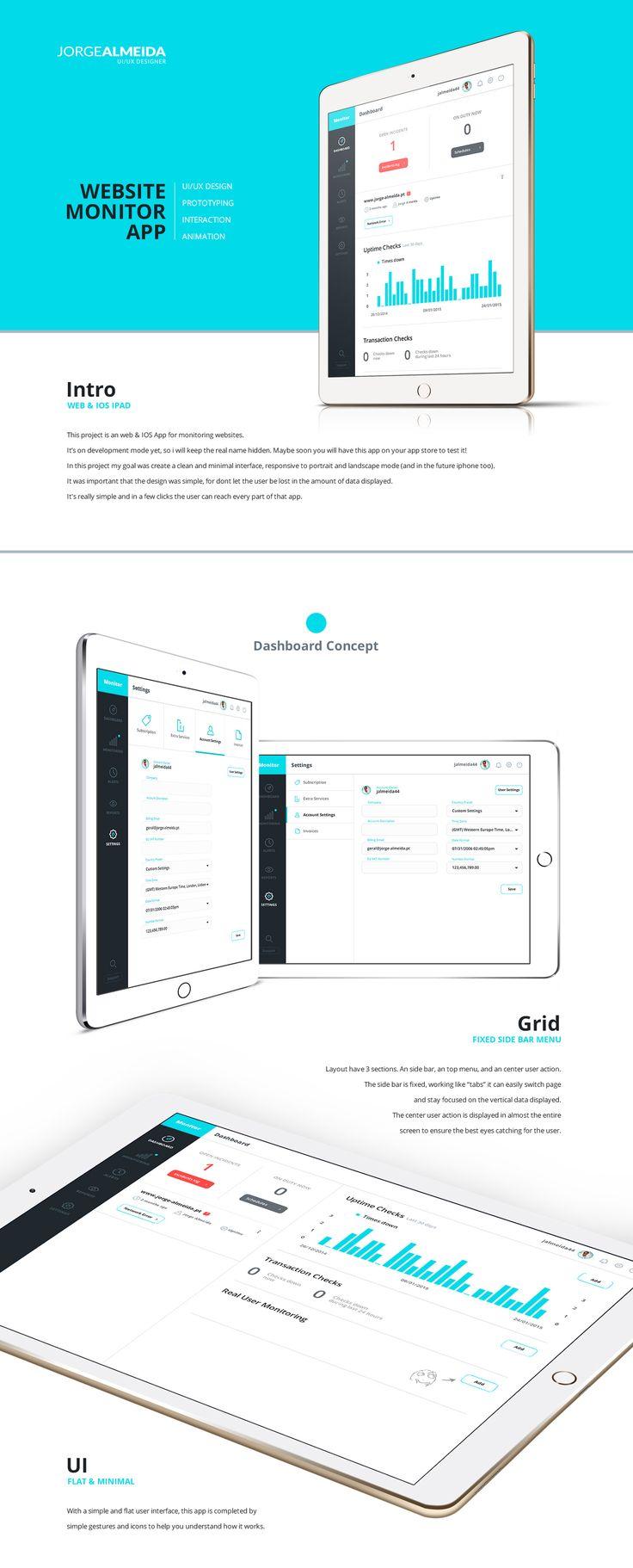 Website Monitor App on Behance