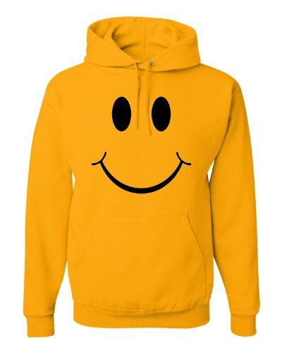 Small Gold Adult Big Smiley Face Don''t Worry Be Happy Sweatshirt Hoodie Go All Out Screenprinting http://www.amazon.com/dp/B00KHUD14U/ref=cm_sw_r_pi_dp_A1sOvb1K622YQ