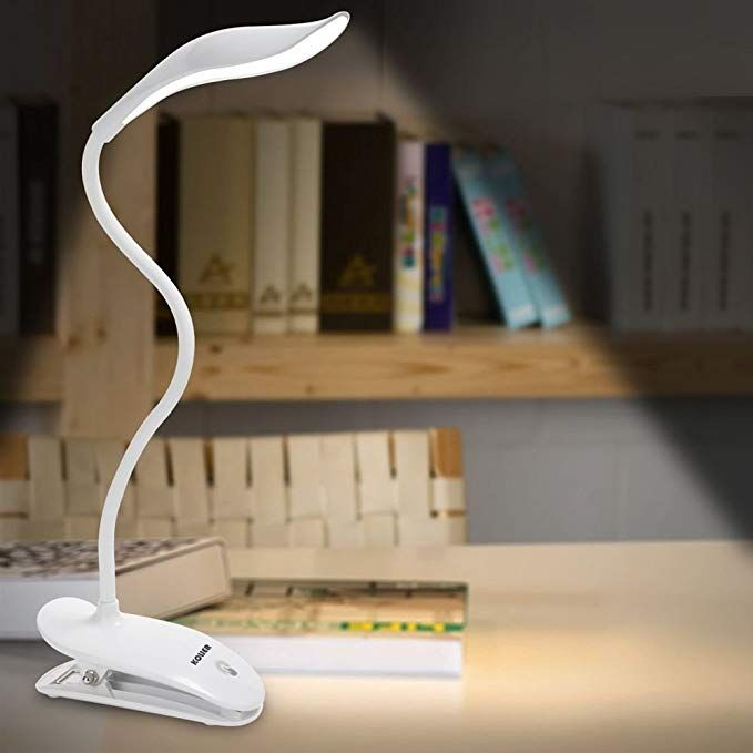 Led Desk Lamp Kolier Clip Light Table Light With 20leds Touch Control Bedside Reading Light Book Light With Usb Chargi Book Lights Clip Lamp Led Desk Lamp