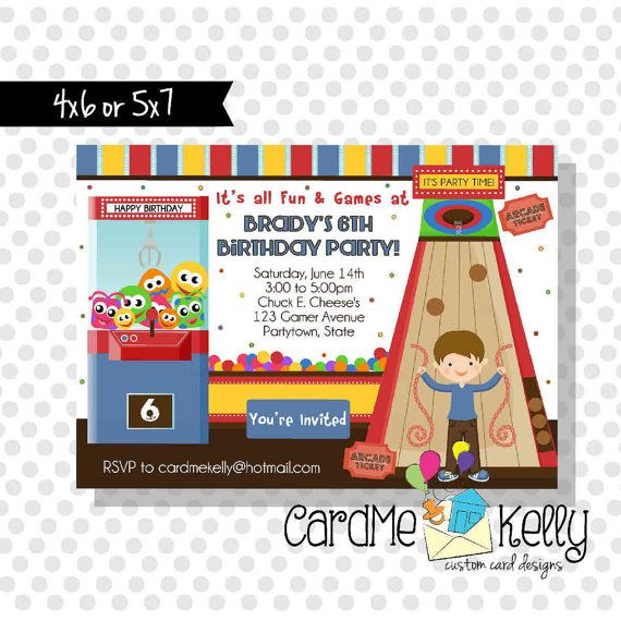 110 best images about Arcade Party Ideas – Arcade Party Invitations