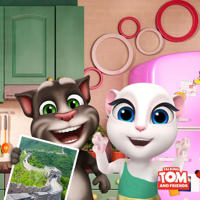 Talking Tom is sending me postcards from China! How cute