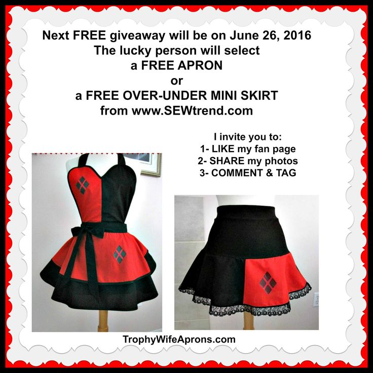 Winner # 30 was Liz Snow from USA ☀ $  SAVE it to WIN it ☀  The lucky girl will get to select the Retro apron-dress she wants.  Vintage inspired sexy aprons - #flirtyaprons - Custom or readymade hostess aprons -All sizes #hostessaprons #retroaprons #sexyaprons #ruffledaprons #layeredaprons #aprons #leggings ☀ ☀ I regularly giveaway a FREE Funky Hostess Apron ☀ ☀  CLICK here for details==> https://sites.google.com/site/trophywifeaprons