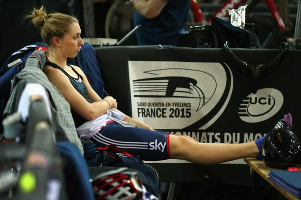 Laura Trott Photos - Laura Trott of the Great Britain Cycling Team looks on prior to the Women's Omnium Scratch Race during Day Four of the…