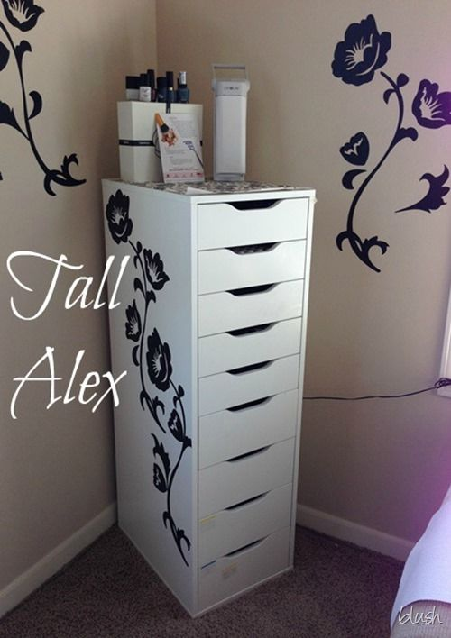TallAlex from IKEA Would be pretty with the stencil on the front.