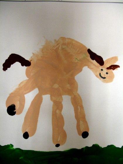 Handprint Horses Ha Clever But Pretty Darn Funny