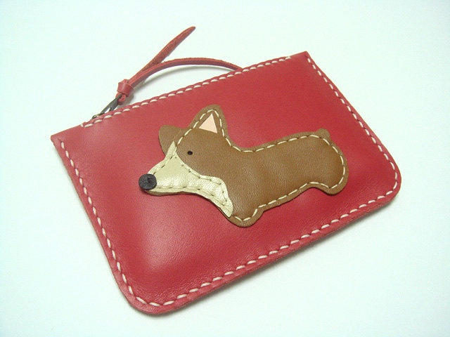NaNa the Corgi Leather Purse ( Red ). $43.50, via Etsy.