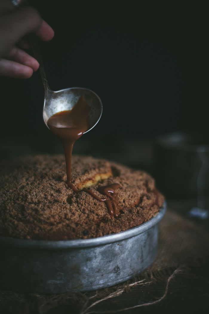 Winter Squash Coffee Cake With A Ginger Caramel Sauce by Eva Kosmas Flores | Adventures in Cooking