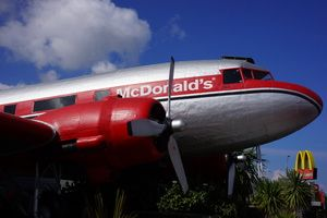 The 8 Coolest McDonald's Restaurants in the World: McDonald's in an Airplane: Taupo, New Zealand