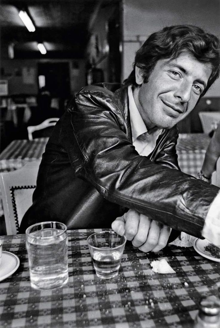 Young Leonard Cohen.