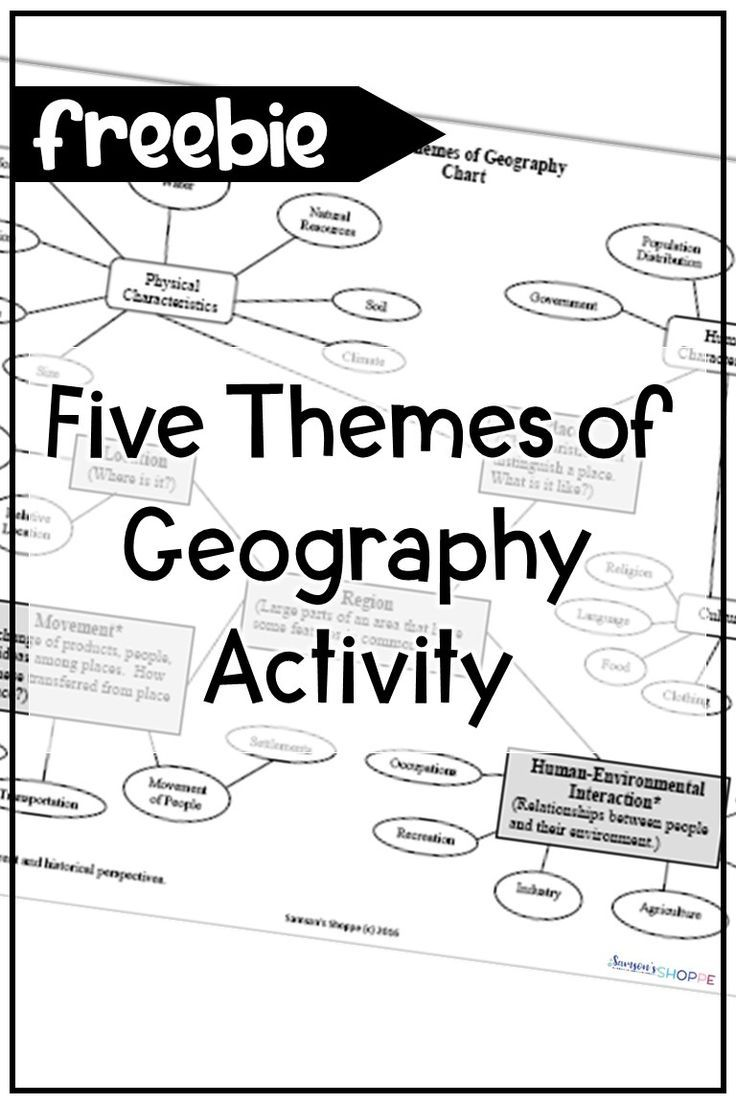 hight resolution of Five Themes of Geography Reference Chart   Geography worksheets