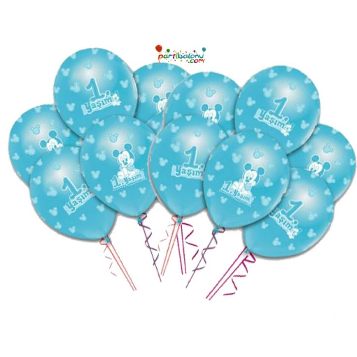 Baby Mickey Mouse Balon (100 Adet)