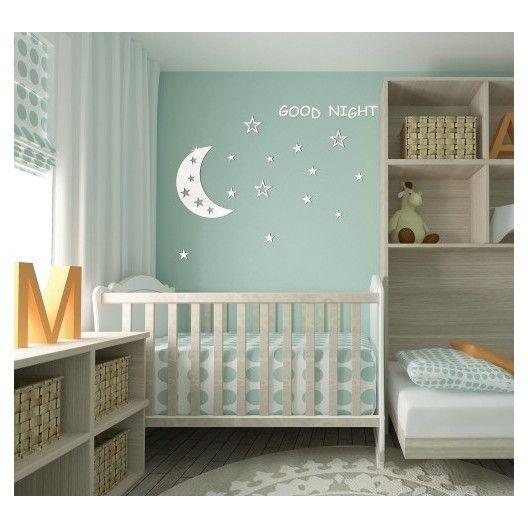 Nalepovacie detské dekorácie na stenu Good night