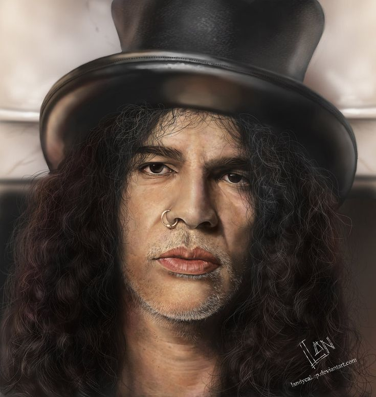 Saul Hudson (born July 23, 1965), better known by his stage name Slash, is a British and American musician and songwriter. He is best known as the former lead guitarist of the American hard rock band Guns N' Roses  Art: Slash by landycakep