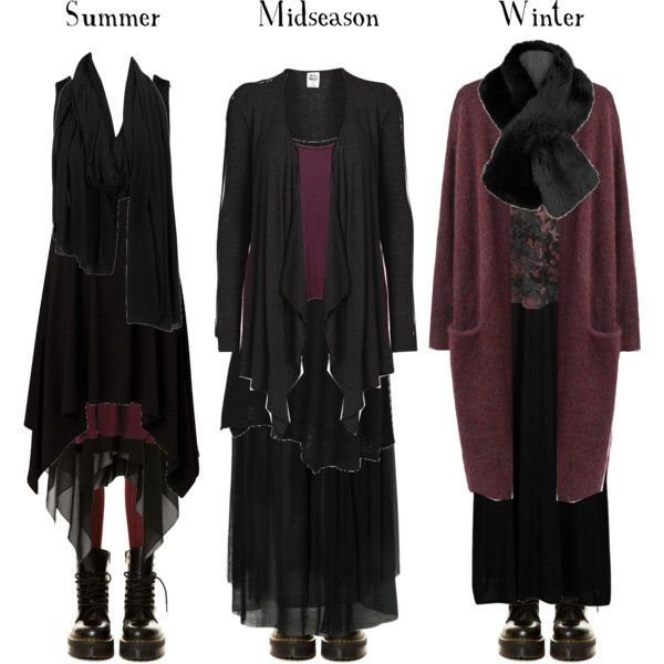 """""""Black and burgundy all year round"""" by pandora-hydrangea-velours on Polyvore"""