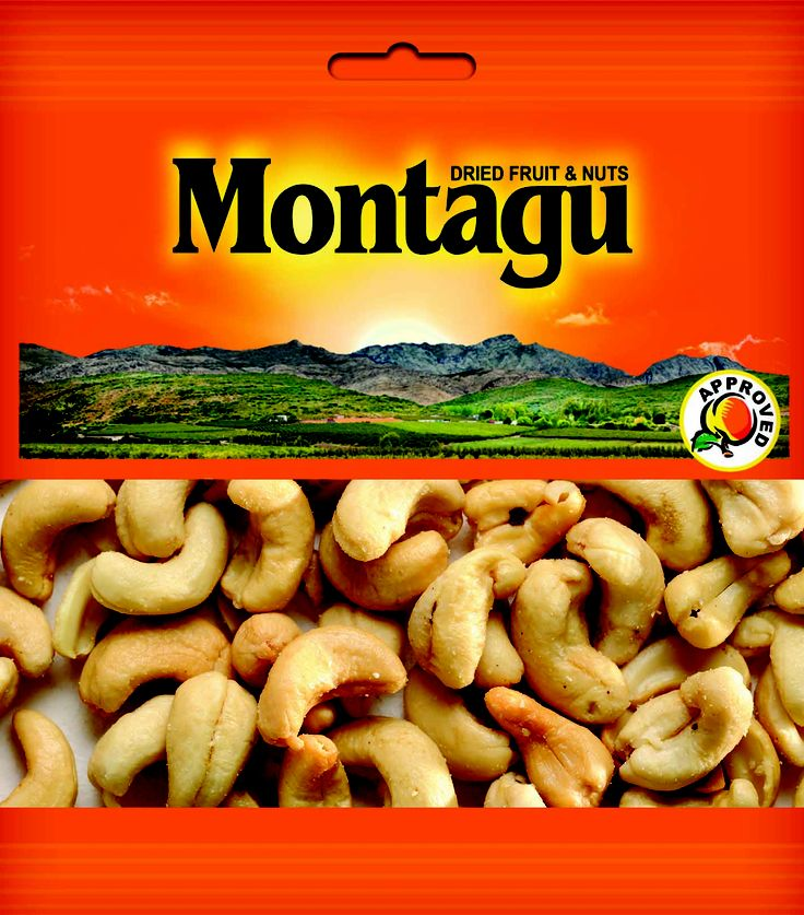 Montagu Dried Fruit - CASHEW ROASTED & SALTED SNACK PACK http://montagudriedfruit.co.za/mtc_stores.php