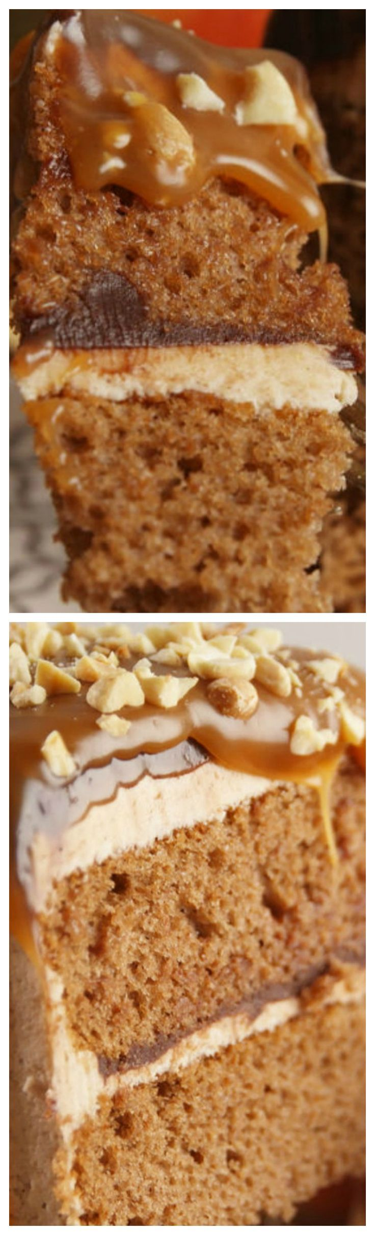 Caramel Apple Cake ~ A delicious fall cake. | Posted By: DebbieNet.com