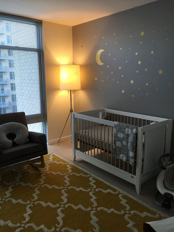 gold moon wall decal vinyl sticker nursery golden by