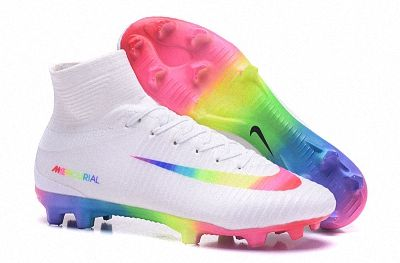 size 40 52e83 89f05 Authentic Men Nike Mercurial Superfly V FG Word Cup White Rainbow Colourful  Edition