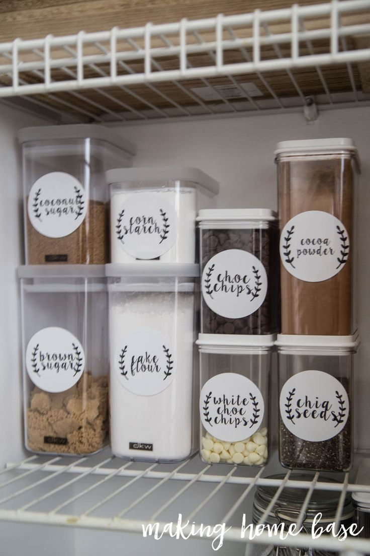 How to organize your pantry with printable labels (including FREE  PRINTABLES)