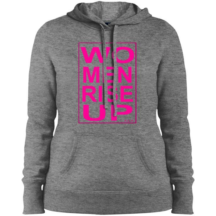 b04fdd1fb91c0 women rise up gen! LST254 Sport-Tek Ladies  Pullover Hooded Sweatshirt
