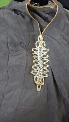 Silk chiffon long kameez in fancy left box