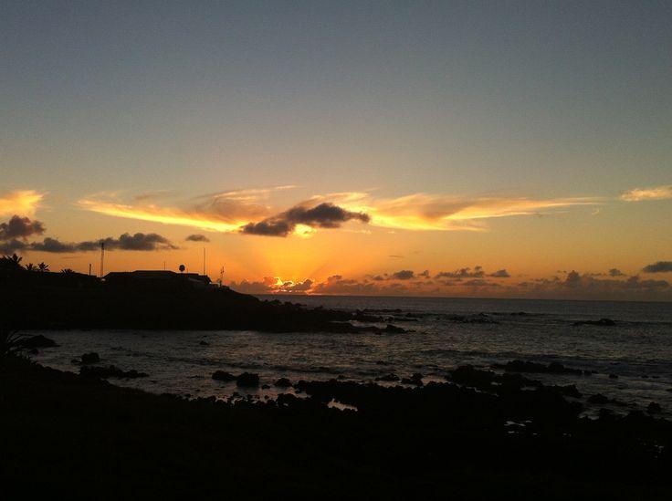 Atardecer en Hanga Roa (Rapa Nui) Septiembre 15, 2014