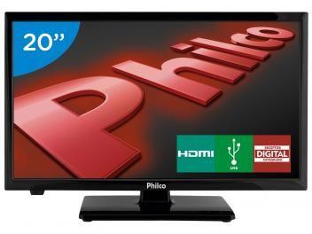 """Só hoje TV LED 20"""" Philco PH20U21D - Conversor Digital 2 HDMI 1 USB por apenas R$ 699,00 em até 7x de R$ 99,86 sem juros no cartão de crédito ou R$ 664,05 à vista (5% Desc. já calculado.)  Preço válido somente em 15/07/2016."""