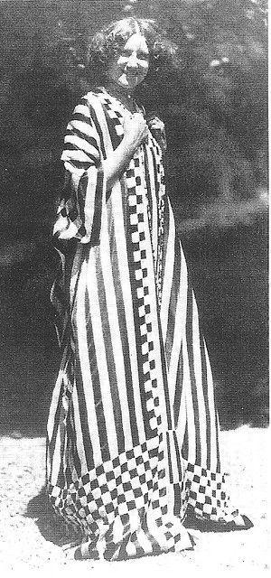 Emilie Louise Flöge - 1914 - Emilie is wearing one of Gustav Klimt's dress shirts that he made for her.