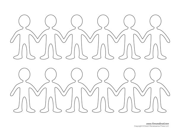 Best 25 Paper Doll Chain ideas – Paper Doll Template