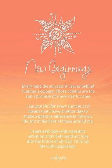 Affirmation - New Beginnings by CarlyMarie