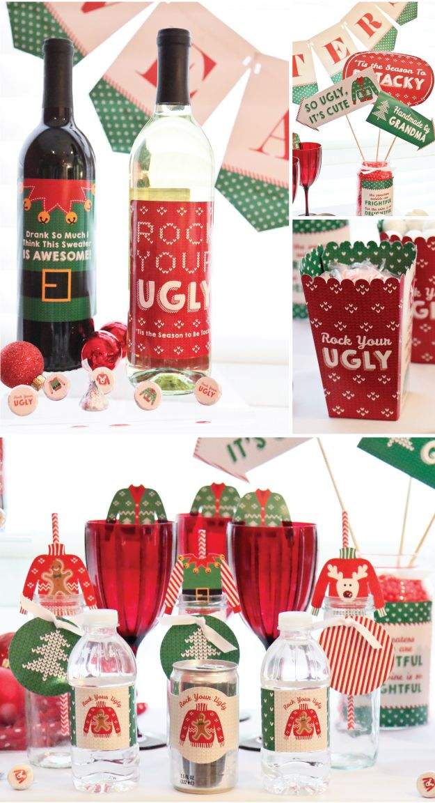 Ugly Sweater Party Ideas from BigDotOfHappiness.com