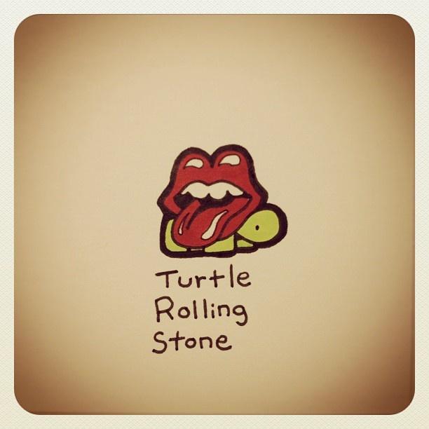Turtle Rolling Stone #turtleadayjuly - @turtlewayne- #webstagram