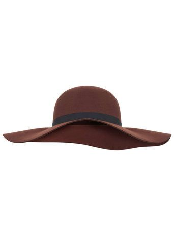 Rust Wide Brim Floppy Hat