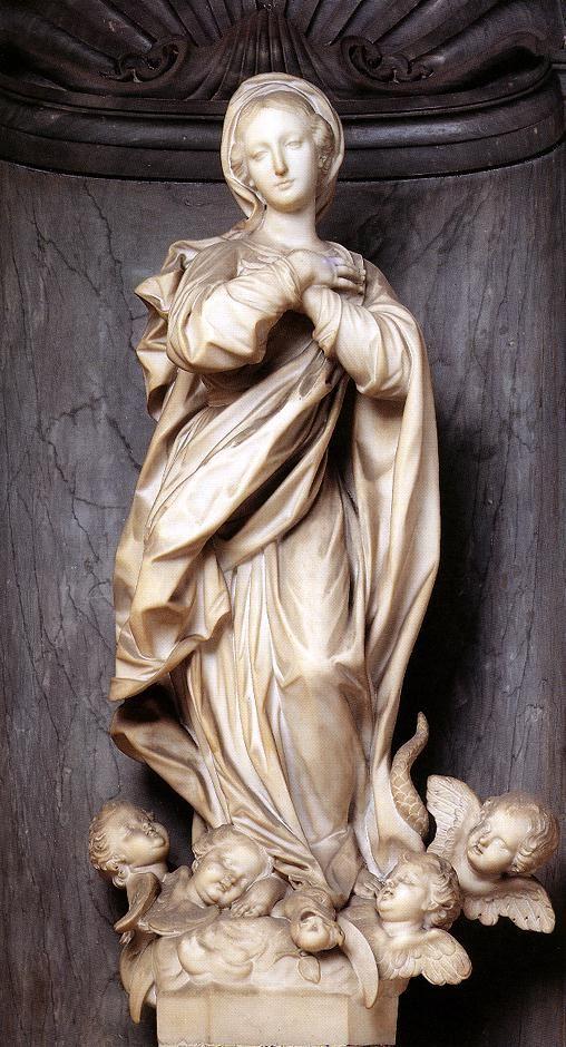 Francesco Maria Schiaffino (1688–1763) | Immaculate Conception - 1762. Marble. Palazzo Doria Lamba, Genoa