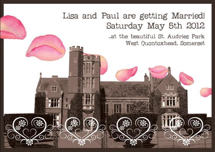 awww - my wedding invites.. Lush!