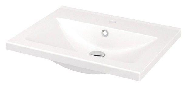 Plan Vasque En Ceramique Nira L 60 4 X H 12 4 X P 45 5 Cm Brico Depot Plan Vasque Vasque Vasque A Encastrer