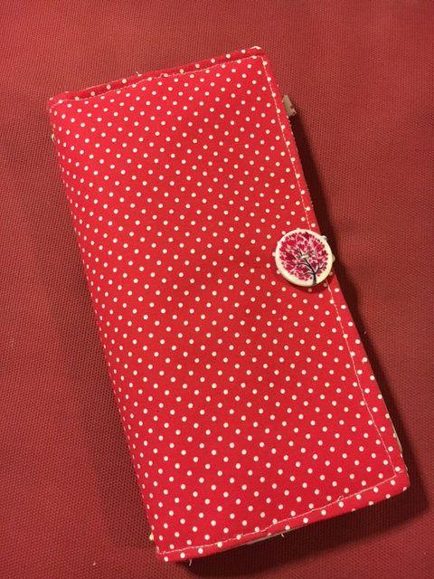 Red Midori Traveler's Notebook free Personalized fabric Journal- FauxDori - refillable planner - Fauxdori - Faux-dori di Laboitedesetoiles su Etsy