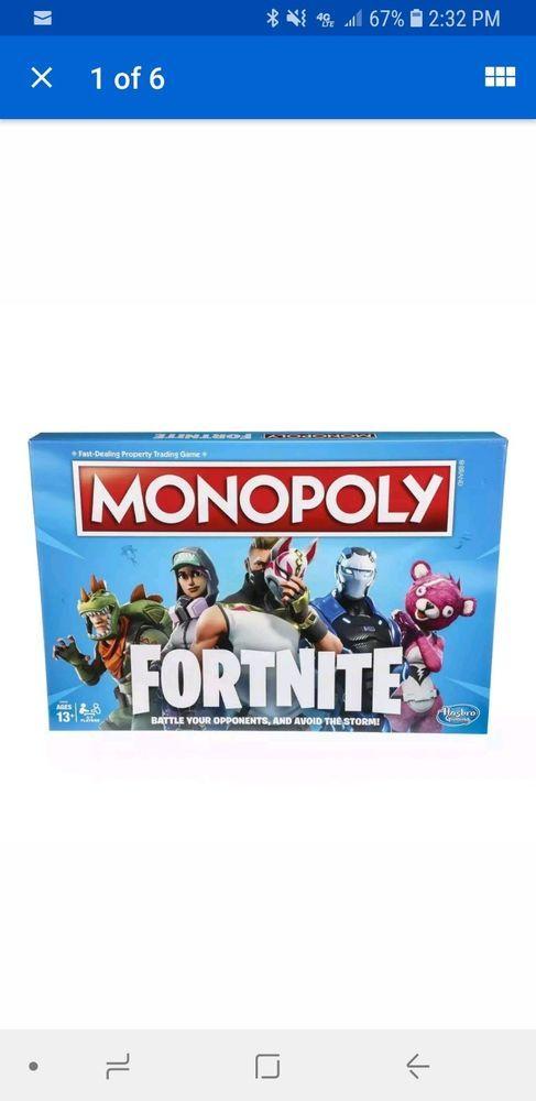 Brand New Fortnite Monopoly Board Game Fortnite Monopoly Game
